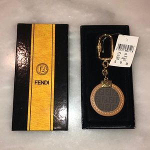 NWT Fendi Zucca Authentic Keychain/Fob Bag Charm